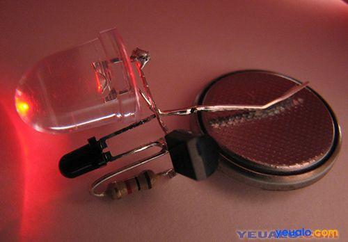 Chế đèn ngủ cảm biến ảnh sáng đơn giản 4