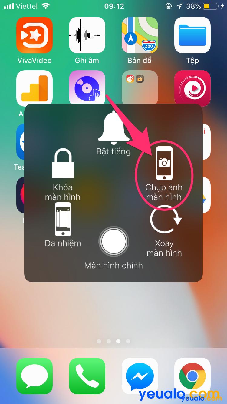 Cách chụp màn hình iPhone XS