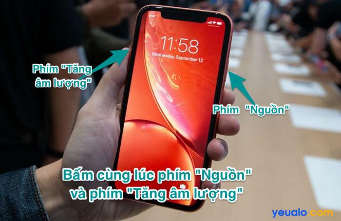 Cách chụp màn hình iPhone 11,  11 Pro, 11 Pro Max