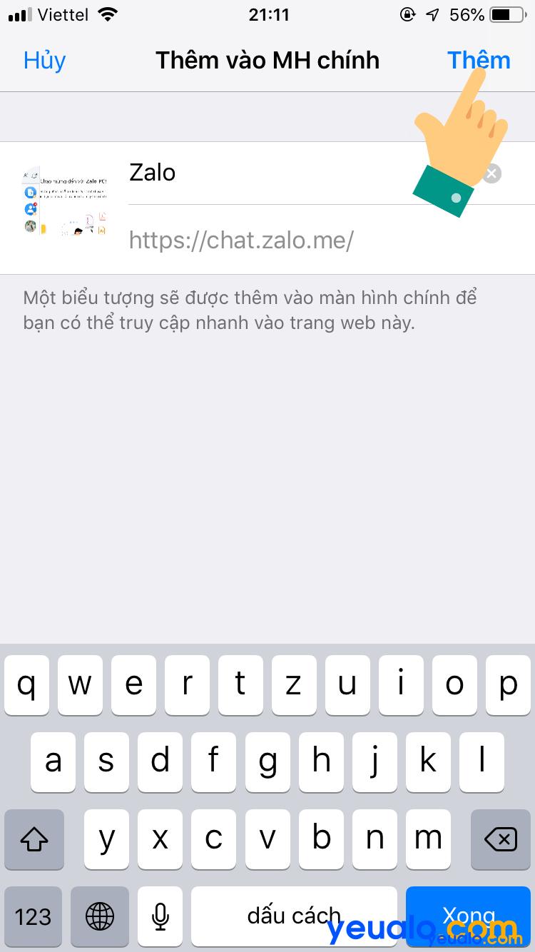 Đăng nhập 2 nick Zalo trên cùng một điện thoại iPhone 5