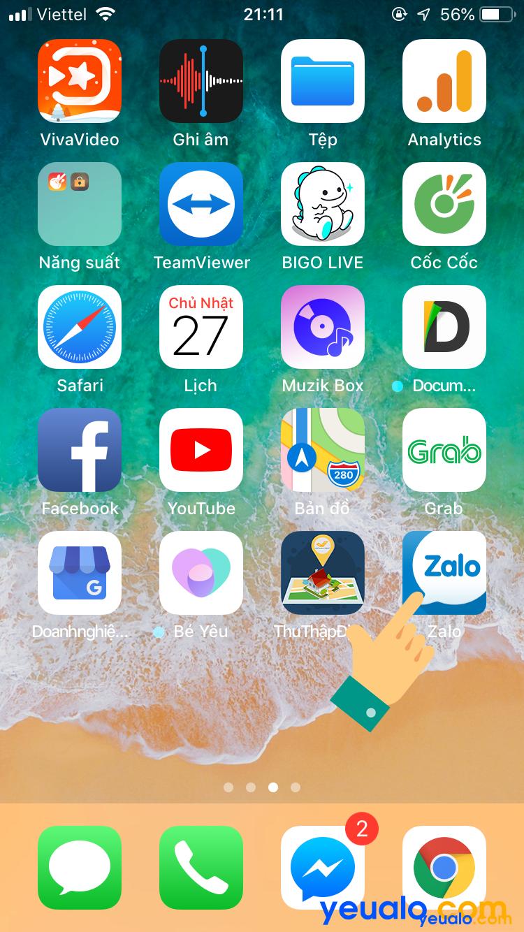 Đăng nhập 2 nick Zalo trên cùng một điện thoại iPhone 6