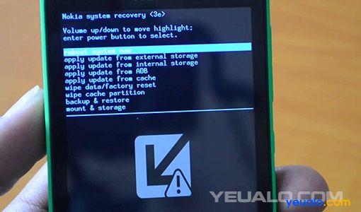 Hướng dẫn cách Hard Reset điện thoại Nokia X +, Nokia XL hay Nokia X2
