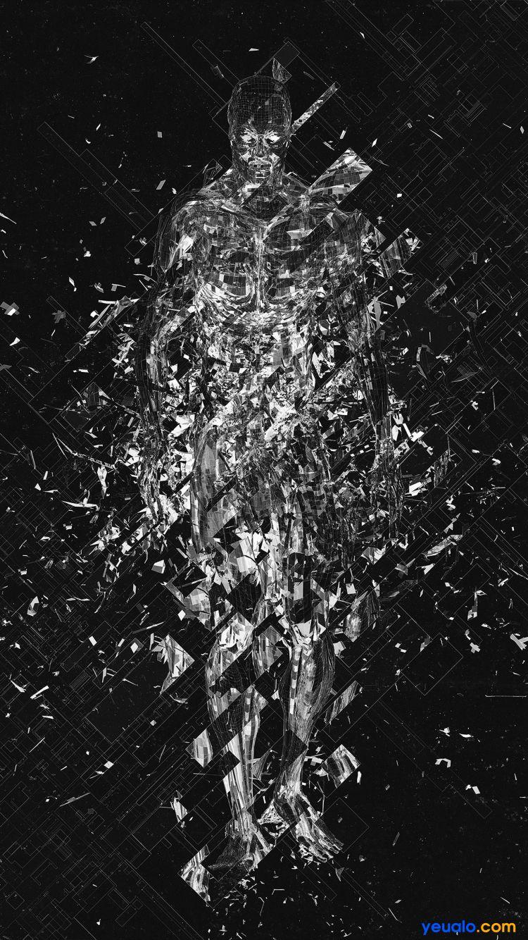 Tải hình nền kính vỡ cho iPhone 10