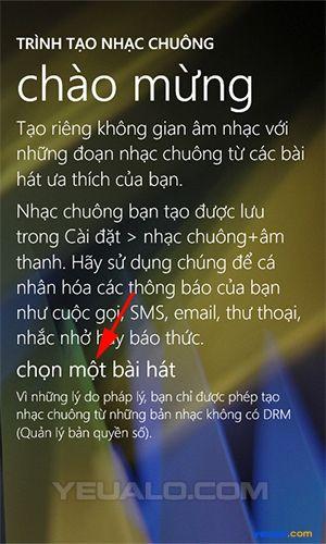 Hướng dẫn cách cài đặt nhạc chuông điện thoại Lumia 1