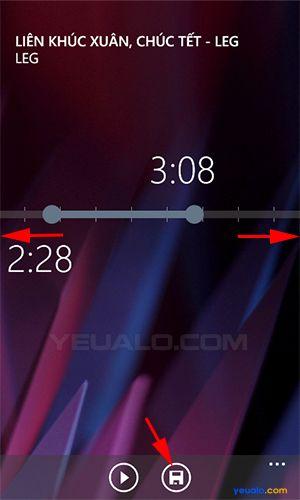 Hướng dẫn cách cài đặt nhạc chuông điện thoại Lumia 3