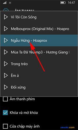 Hướng dẫn cách cài đặt nhạc chuông cho điện thoại Windows 10 Mobile 5
