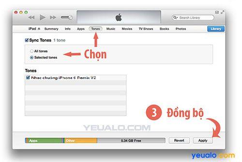 Cách cài đặt nhạc chuông iPhone 6 Remix V2 cho điện thoại iPhone 2