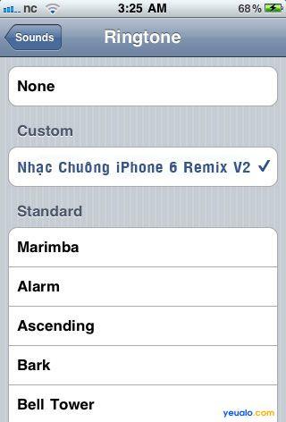Cách cài đặt nhạc chuông iPhone 6 Remix V2 cho điện thoại iPhone 3