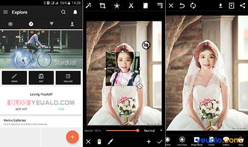 Hướng dẫn cách ghép ảnh cô dâu trên điện thoại