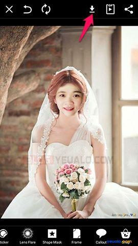 Hướng dẫn cách ghép ảnh cô dâu trên điện thoại 7