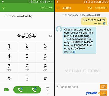 Cách kiểm tra thời gian bảo hành trên điện thoại Samsung chính hãng