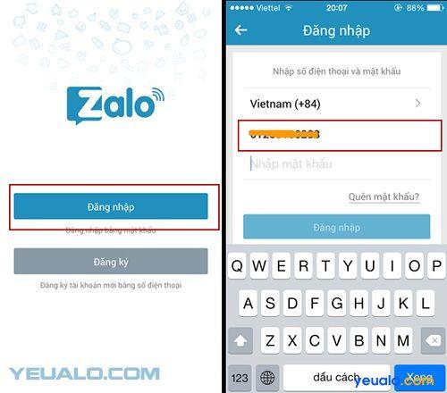 Hướng dẫn cách lấy lại mật khẩu Zalo