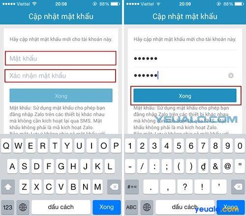 Hướng dẫn cách lấy lại mật khẩu Zalo 4