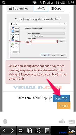 Hướng dẫn cách live stream màn hình điện thoại lên Facebook 8