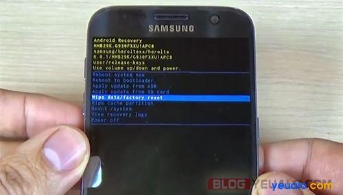 Cách phá mật khẩu khóa màn hình điện thoại Samsung Galaxy 3