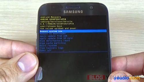 Cách phá mật khẩu khóa màn hình điện thoại Samsung Galaxy 5