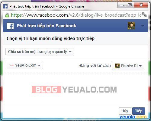 Hướng dẫn cách phát Facebook Live trực tiếp từ máy tính 8