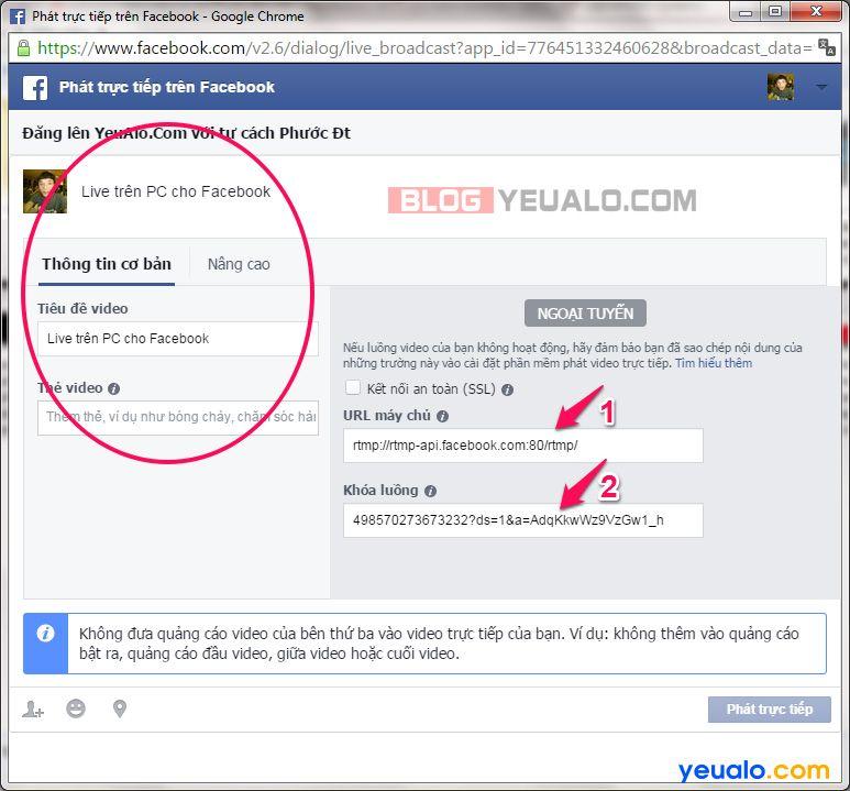 Hướng dẫn cách phát Facebook Live trực tiếp từ máy tính 9