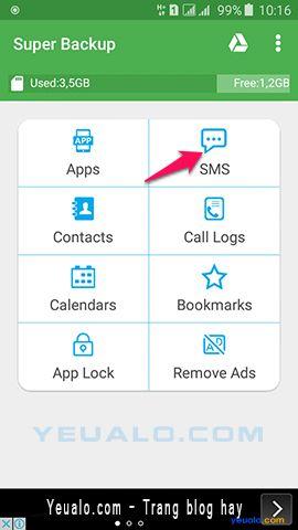 Hướng dẫn cách sao lưu dữ liêu điện thoại Android