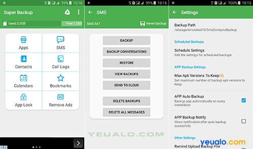 Hướng dẫn cách sao lưu, khôi phục dữ liêu trên điện thoại Android như Samsung Galaxy, Oppo, Asus Zenfone…