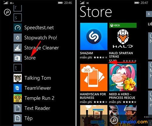 Cách tải và cài đặt game, ứng dụng trên các máy Lumia 1