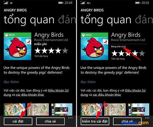 Cách tải và cài đặt game, ứng dụng trên các máy Lumia 4