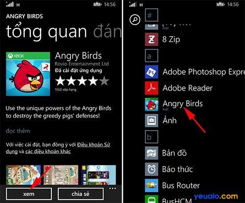 Cách tải và cài đặt game, ứng dụng trên các máy Lumia 5