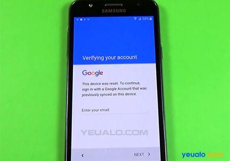 Hướng dẫn cách Xoá Xác Minh Tài Khoản Google trên điện thoại Samsung Galaxy J2/J3/J5/J7, A3/A5/A7/A8, Note 4, Note 5…
