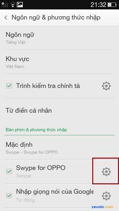 Hướng dẫn cách cài đặt bộ gõ Tiếng Việt cho điện thoại Oppo 4