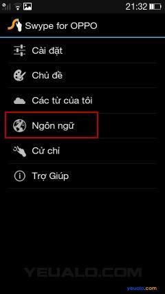 Hướng dẫn cách cài đặt bộ gõ Tiếng Việt cho điện thoại Oppo 5
