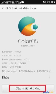 Cách cập nhật hệ điều hành phiên bản mới nhất cho điện thoại OPPO 4