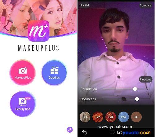 """Makeup Plus – Phần mềm thêm râu """"Soái ca"""" vào ảnh trên điện thoại"""