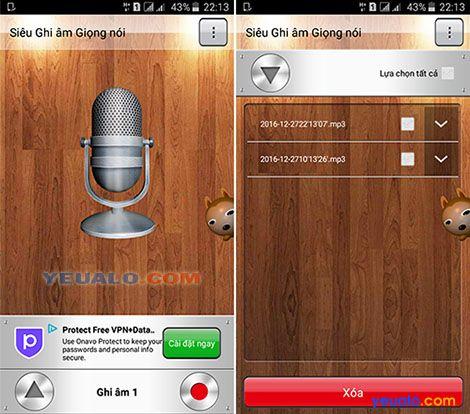 Siêu Ghi âm Giọng nói Phần mềm ghi âm giọng nói trên điện thoại android