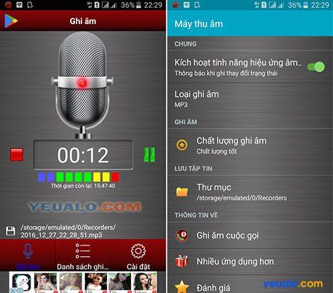 Voice recorder Phần mềm ghi âm giọng nói trên điện thoại android