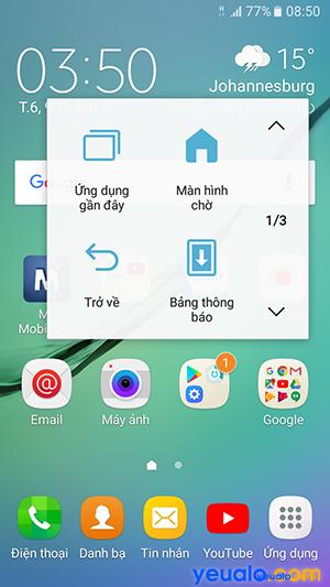 Cách bật nút Home ảo trên Samsung Galaxy 7