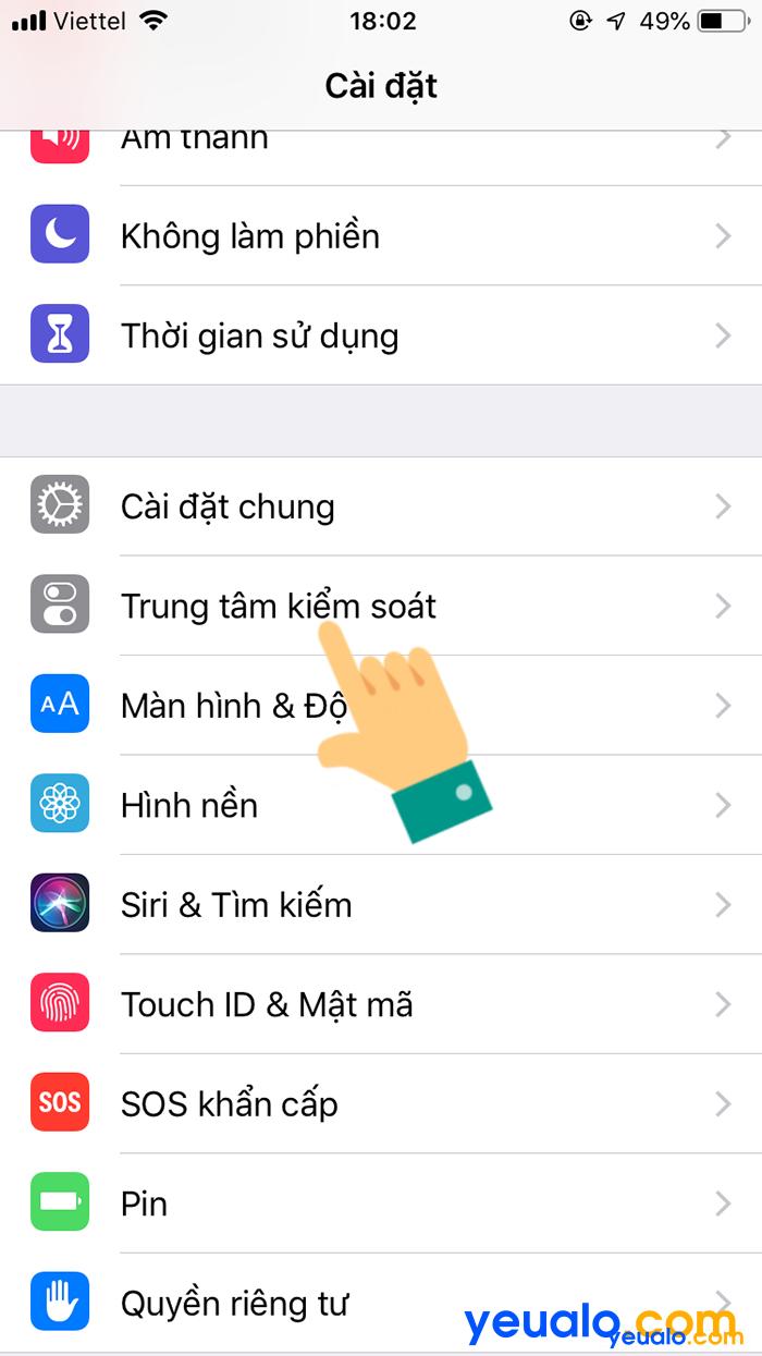 Cách quay màn hình iPhone iOS 12 2
