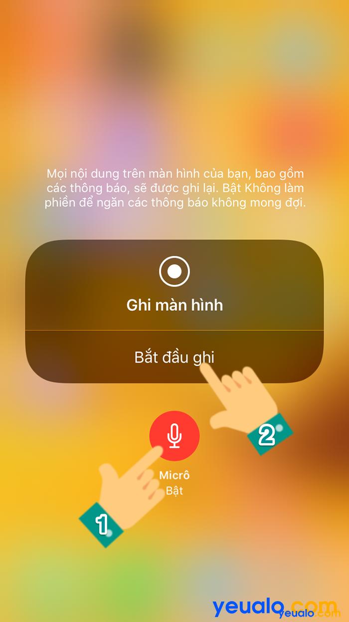 Cách quay màn hình iOS 12 7