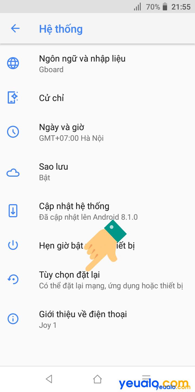 Hướng dẫn cách khắc phục lỗi không vào được Wifi điện thoại Vsmart 3