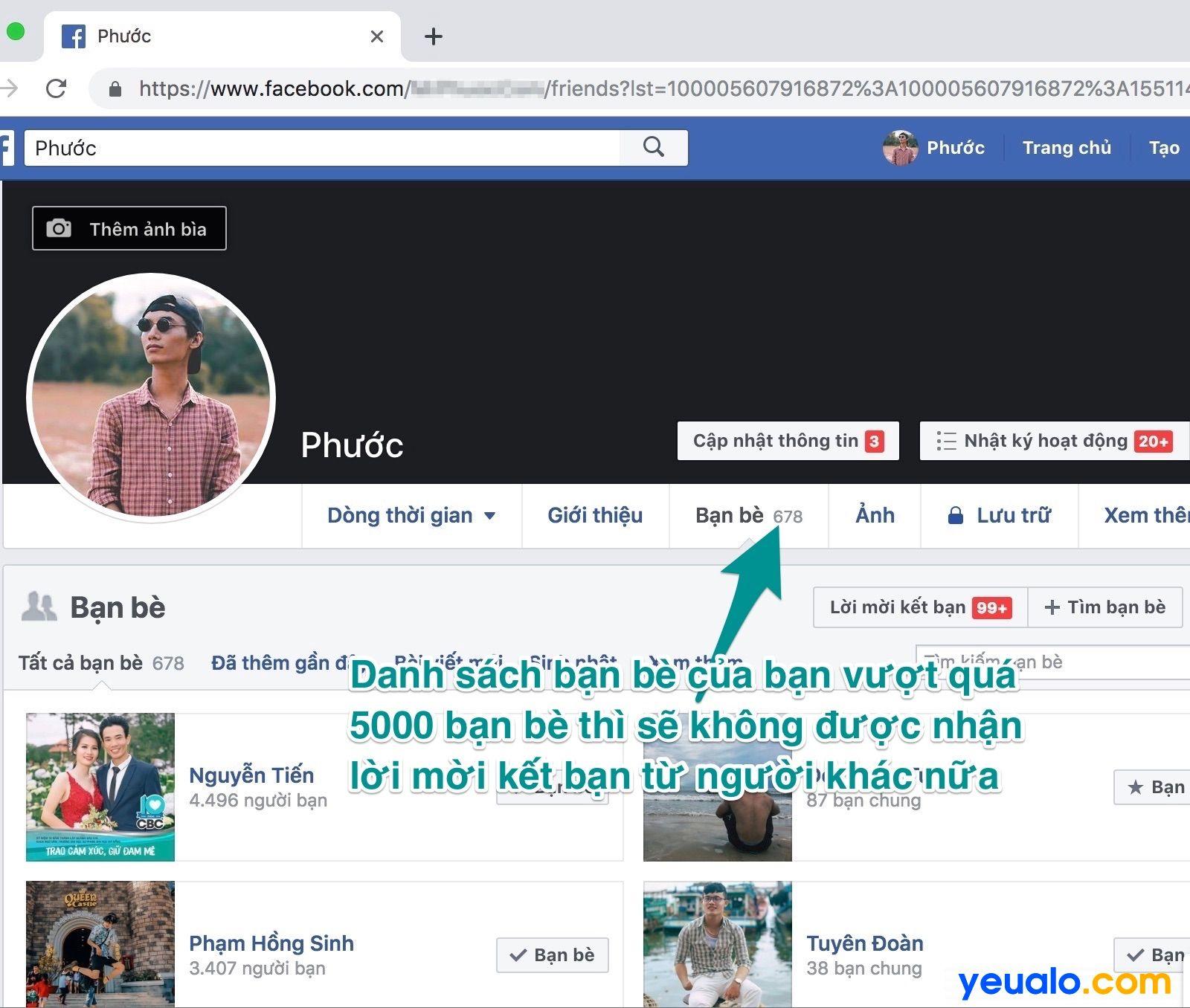 Tại sao Facebook không có nút kết bạn 3