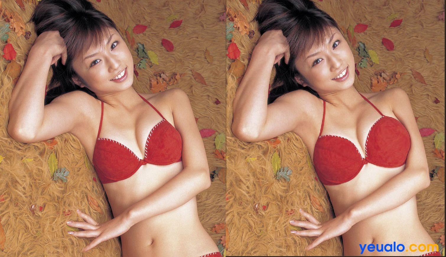 Cách tăng kích thước ngực bằng Photoshop 7