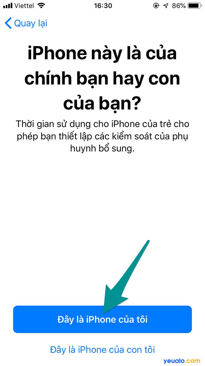 Cách Bật thời gian sử dụng iPhone 5