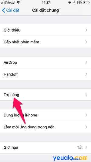 Cách tắt Độ sáng tự động iPhone 3