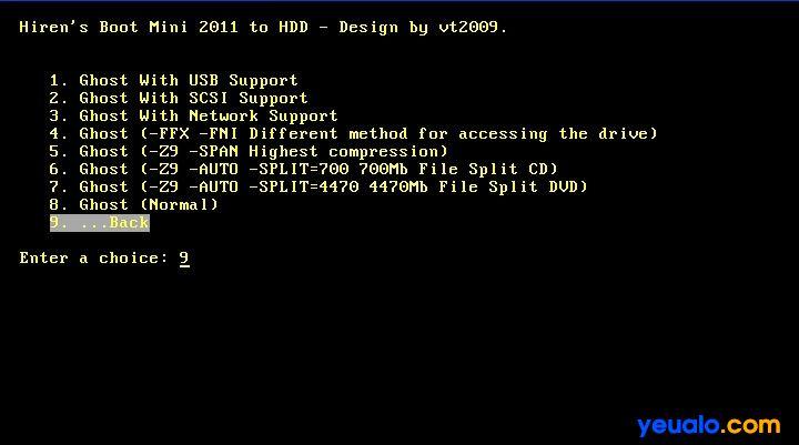 Hướng dẫn tích hợp CD Hiren Boot vào ổ cứng 4