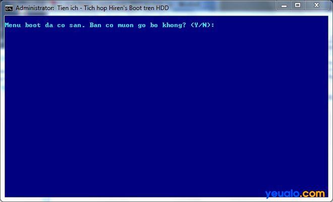 Cách gỡ bỏ CD Hiren Boot đã cài vào ổ cứng 6