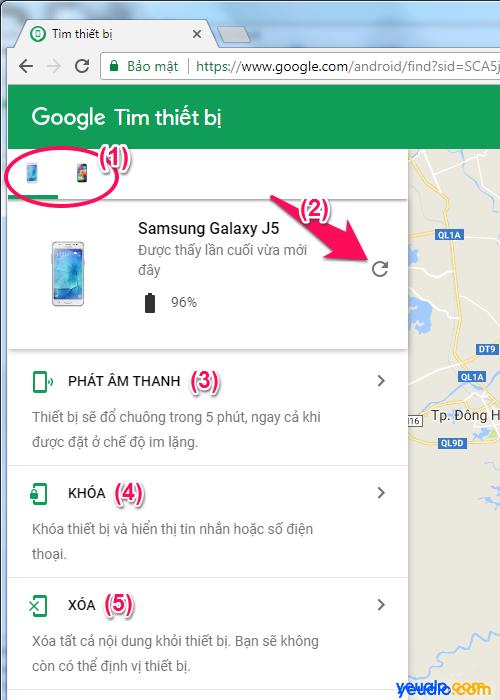 Cách tìm điện thoại Android bị mất 1