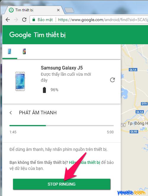 Cách tìm điện thoại Android bị mất 3