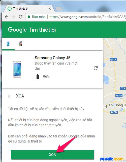 Cách tìm điện thoại Android bị mất 5