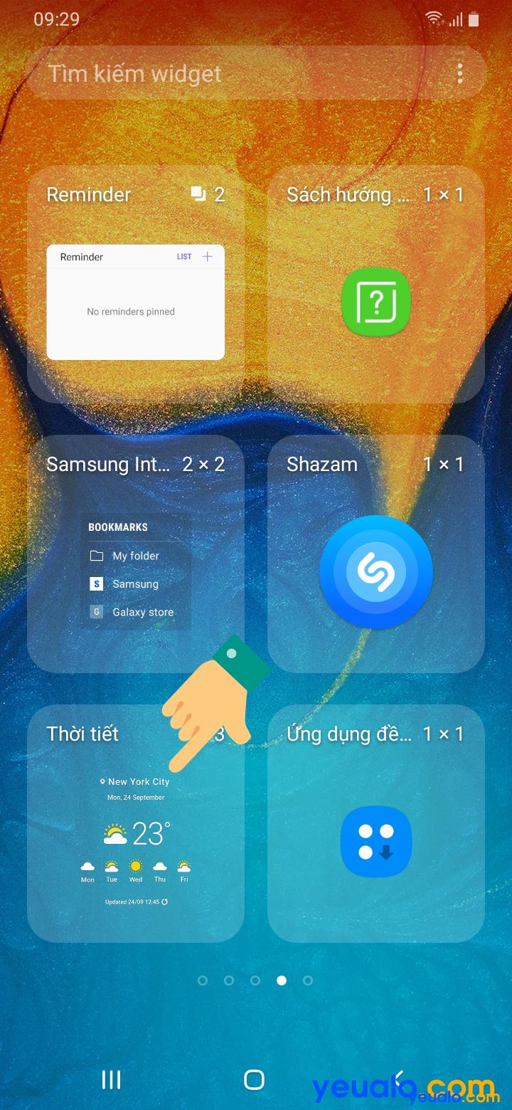 Cách cài đặt dự báo thời tiết trên Samsung 3