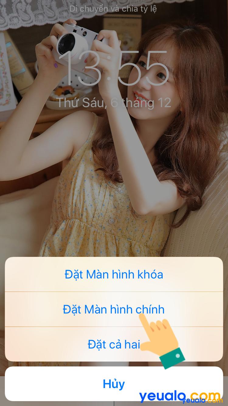 Cách cài đặt hình nền iPhone 7