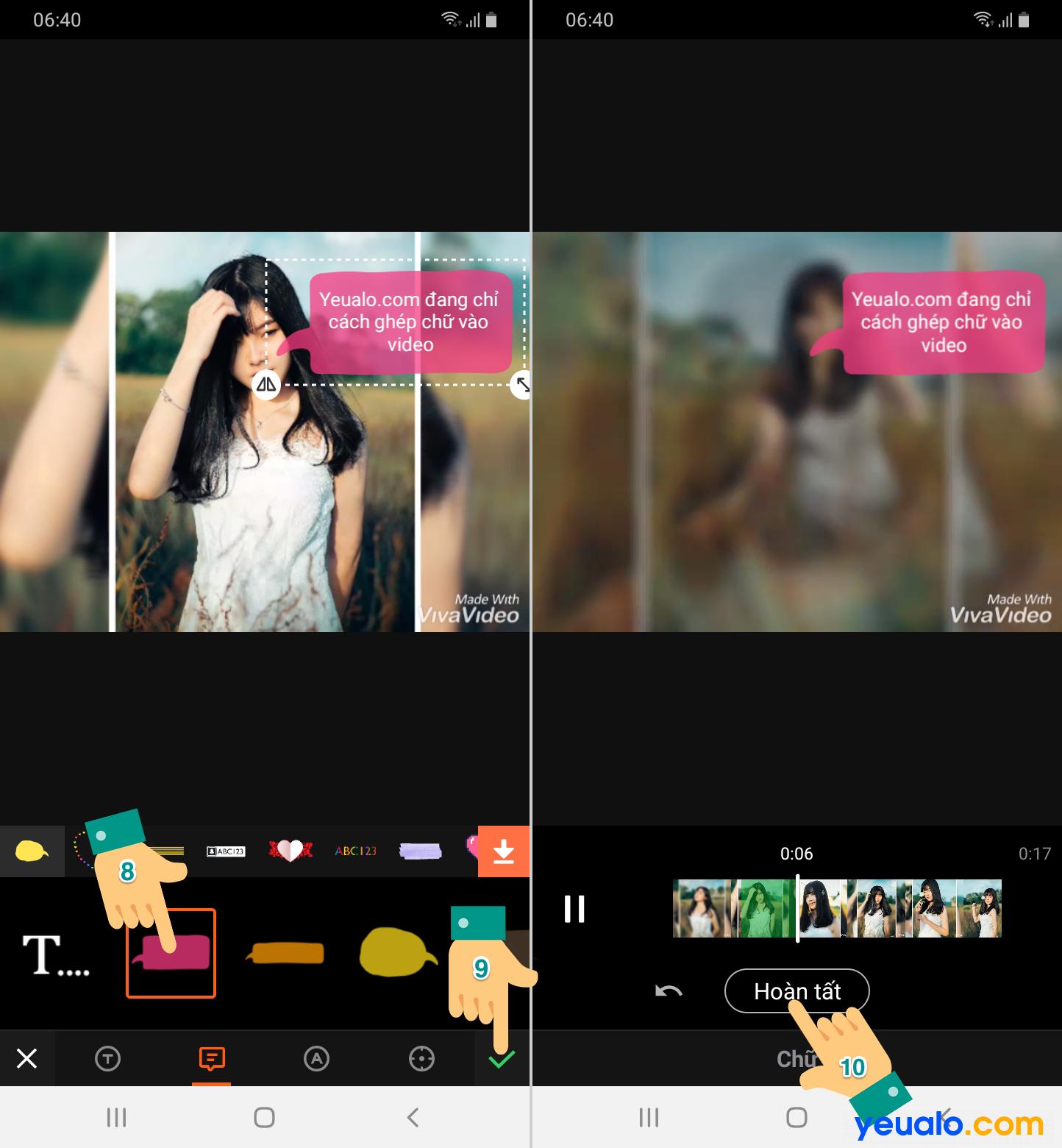 Cách chèn chữ vào Video trên điện thoại 4